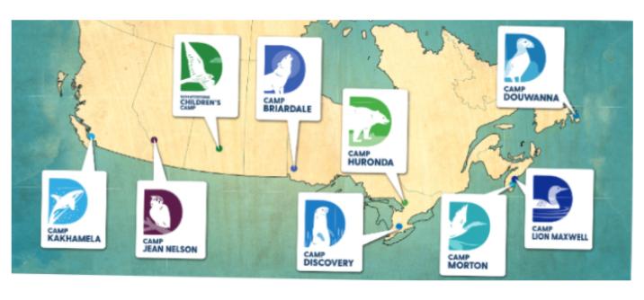 D-Camps Map