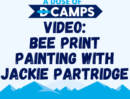 Bee Print Painting