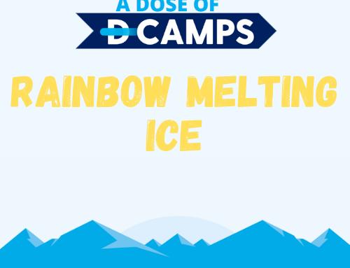 Rainbow Melting Ice
